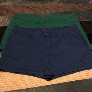 2 pair size 16 chino style shorts